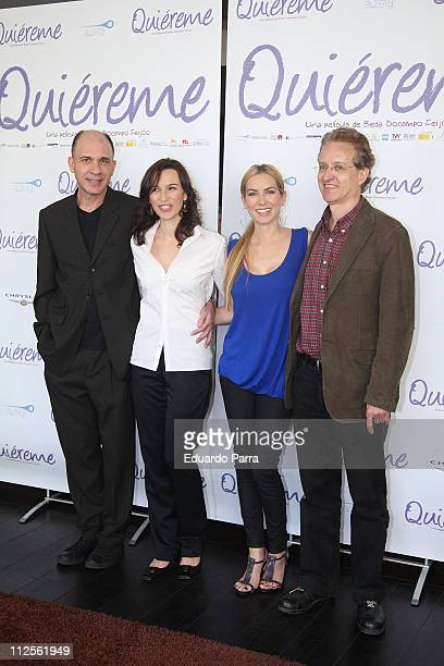 Actor Dario Grandinetti actress Ariadna Gil actress Kira Miro and director Beda Docampo Feijoo attend a press photocall of the film 'Quiereme'...