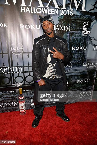 Actor Darius Love attends The Official MAXIM Halloween Party produced by Karma International on October 24 2015 in Beverly Hills California