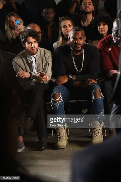 Actor Darren Criss and model Tyson Beckford attend the Todd Snyder fashion show during New York Fashion Week Men's Fall/Winter 2016 at Skylight at...