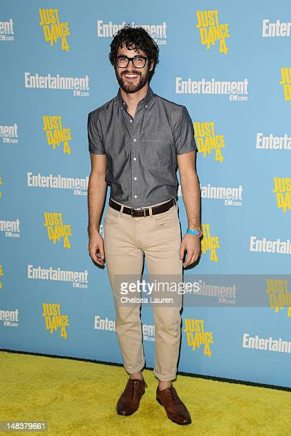 Actor Darren Criss arrives at Entertainment Weekly's ComicCon celebration at Float at Hard Rock Hotel San Diego on July 14 2012 in San Diego...