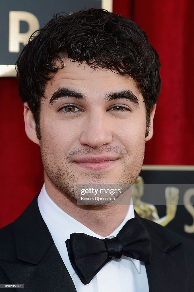 Actor Darren Criss arrives at the 19th Annual Screen Actors Guild Awards held at The Shrine Auditorium on January 27, 2013 in Los Angeles, California.