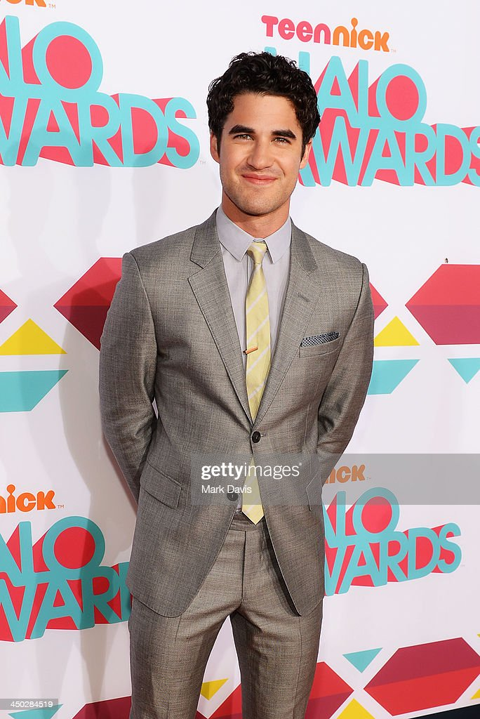 Actor <a gi-track='captionPersonalityLinkClicked' href=/galleries/search?phrase=Darren+Criss&family=editorial&specificpeople=7341435 ng-click='$event.stopPropagation()'>Darren Criss</a> arrives at the 5th Annual TeenNick HALO Awards at Hollywood Palladium on November 17, 2013 in Hollywood, California.