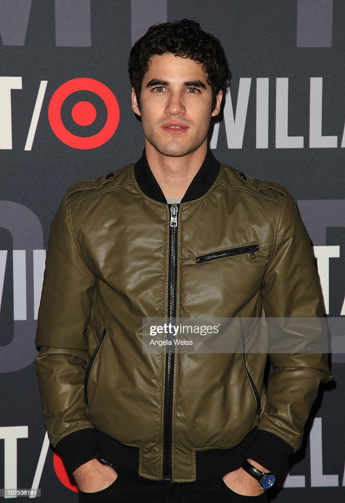 Actor <a gi-track='captionPersonalityLinkClicked' href=/galleries/search?phrase=Darren+Criss&family=editorial&specificpeople=7341435 ng-click='$event.stopPropagation()'>Darren Criss</a> arrives at the launch of Target's & William Rast's Limited Edition Collection shopping event at Factory Place on December 11, 2010 in Los Angeles, California.