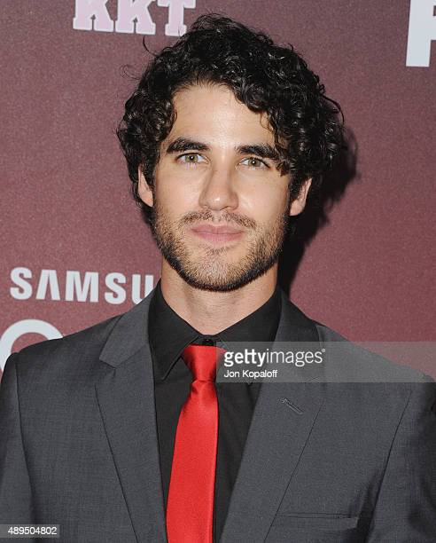 Actor Darren Criss arrives at the Premiere Of FOX TV's 'Scream Queens' at The Wilshire Ebell Theatre on September 21 2015 in Los Angeles California