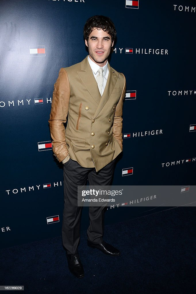 Actor Darren Criss arrives at the Tommy Hilfiger West Coast Flagship Grand Opening Event at Tommy Hilfiger West Hollywood on February 13, 2013 in West Hollywood, California.