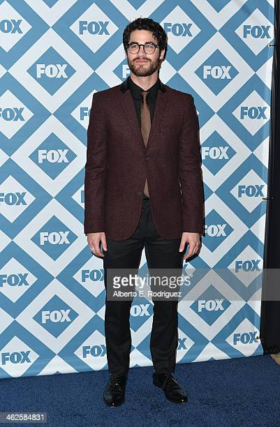 Actor Darren Criss arrives to the 2014 Fox AllStar Party at the Langham Hotel on January 13 2014 in Pasadena California
