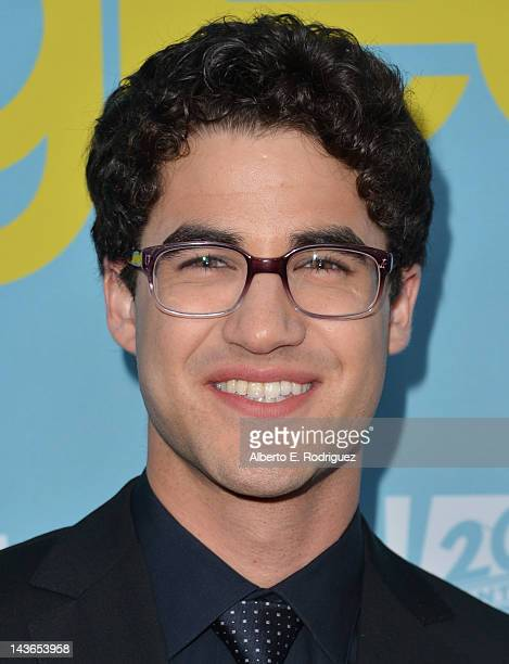 Actor Darren Criss arrives to The Academy of Television Arts Sciences' screening of Fox's 'Glee' at Leonard Goldenson Theatre on May 1 2012 in North...