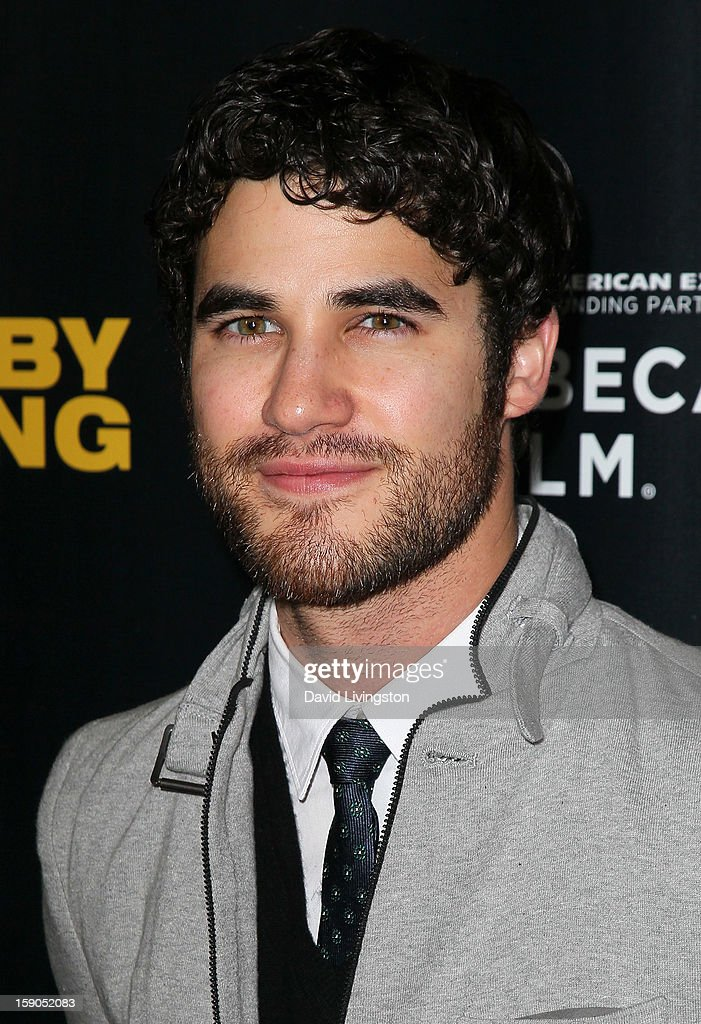 Actor Darren Criss attends a screening of Tribeca Film's 'Struck By Lightning' at Mann Chinese 6 on January 6, 2013 in Los Angeles, California.