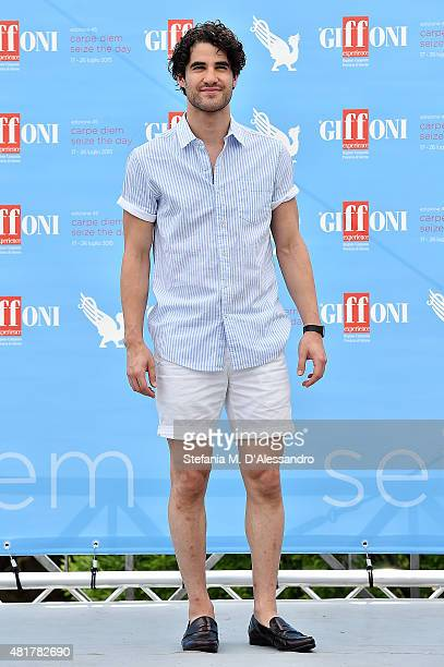Actor Darren Criss attends Giffoni Film Festival 2015 Day 8 photocall on July 24 2015 in Giffoni Valle Piana Italy