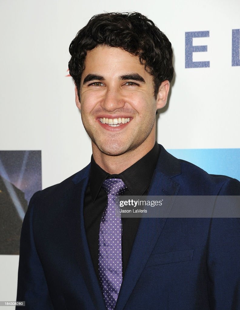Actor <a gi-track='captionPersonalityLinkClicked' href=/galleries/search?phrase=Darren+Criss&family=editorial&specificpeople=7341435 ng-click='$event.stopPropagation()'>Darren Criss</a> attends Hugh Jackman's 'One Night Only' benefitting the MPTF (Motion Picture & Television Fund) at Dolby Theatre on October 12, 2013 in Hollywood, California.