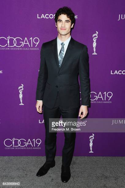 Actor Darren Criss attends The 19th CDGA with Presenting Sponsor LACOSTE at The Beverly Hilton Hotel on February 21 2017 in Beverly Hills California