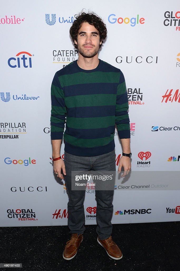 Actor Darren Criss attends the 2015 Global Citizen Festival to end extreme poverty by 2030 in Central Park on September 26, 2015 in New York City.