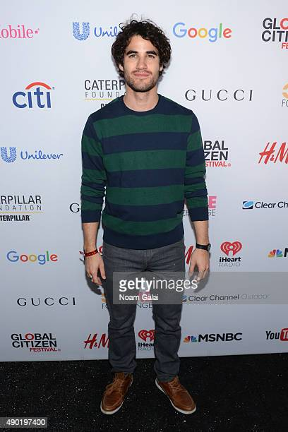 Actor Darren Criss attends the 2015 Global Citizen Festival to end extreme poverty by 2030 in Central Park on September 26 2015 in New York City