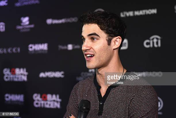 Actor Darren Criss attends the 2016 Global Citizen Festival In Central Park To End Extreme Poverty By 2030 at Central Park on September 24 2016 in...