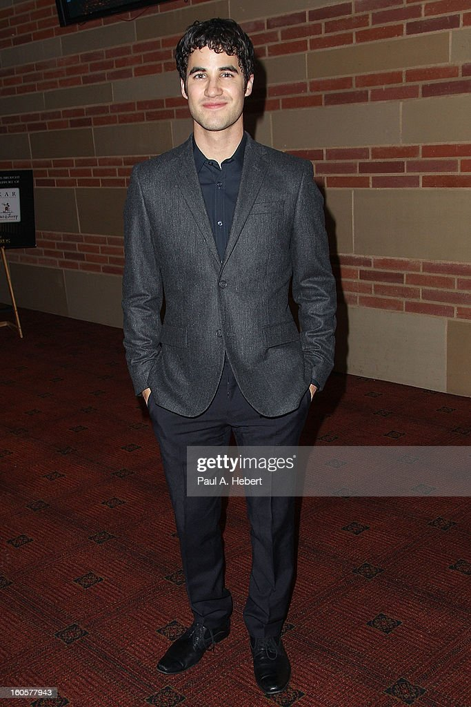 Actor <a gi-track='captionPersonalityLinkClicked' href=/galleries/search?phrase=Darren+Criss&family=editorial&specificpeople=7341435 ng-click='$event.stopPropagation()'>Darren Criss</a> attends the 40th Annual Annie Awards after party held at Royce Hall on the UCLA Campus on February 2, 2013 in Westwood, California.