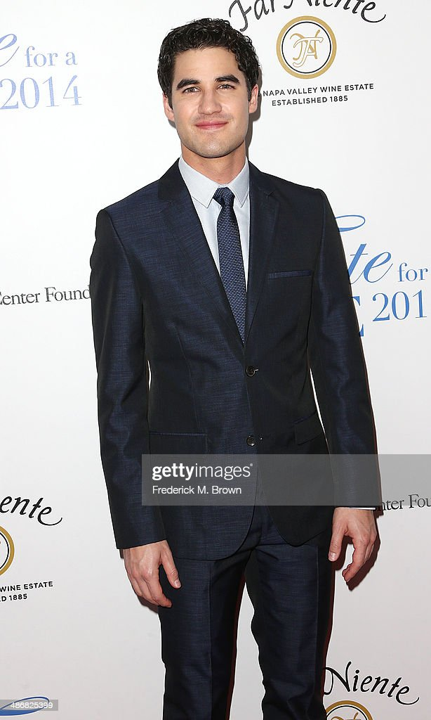 Actor <a gi-track='captionPersonalityLinkClicked' href=/galleries/search?phrase=Darren+Criss&family=editorial&specificpeople=7341435 ng-click='$event.stopPropagation()'>Darren Criss</a> attends the Jonsson Cancer Center Foundation's 19th Annual 'Taste for a Cure' at the Regent Beverly Wilshire Hotel on April 25, 2014 in Beverly Hills, California.