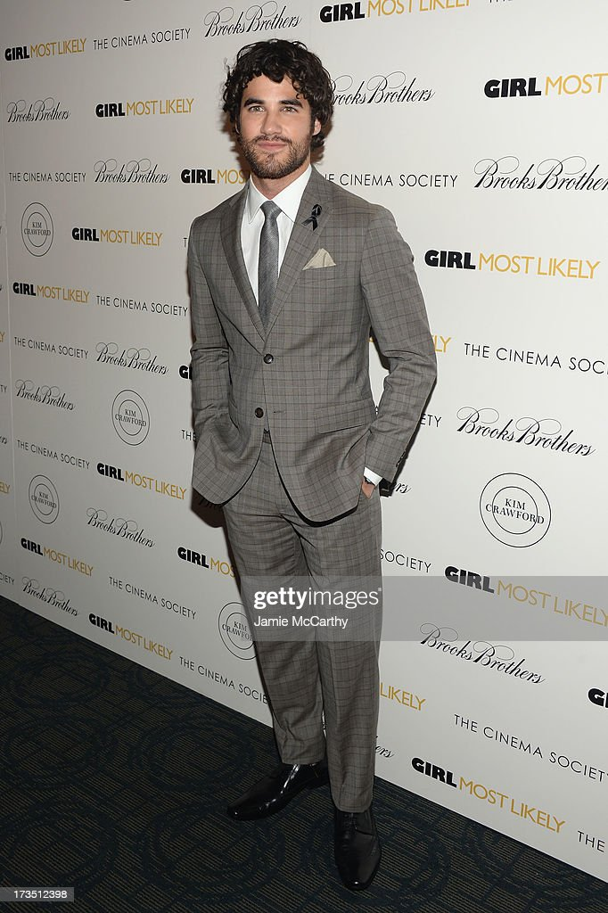 Actor Darren Criss attends the screening of Lionsgate and Roadside Attractions' 'Girl Most Likely' hosted by The Cinema Society & Brooks Brothers at Landmark's Sunshine Cinema on July 15, 2013 in New York City.