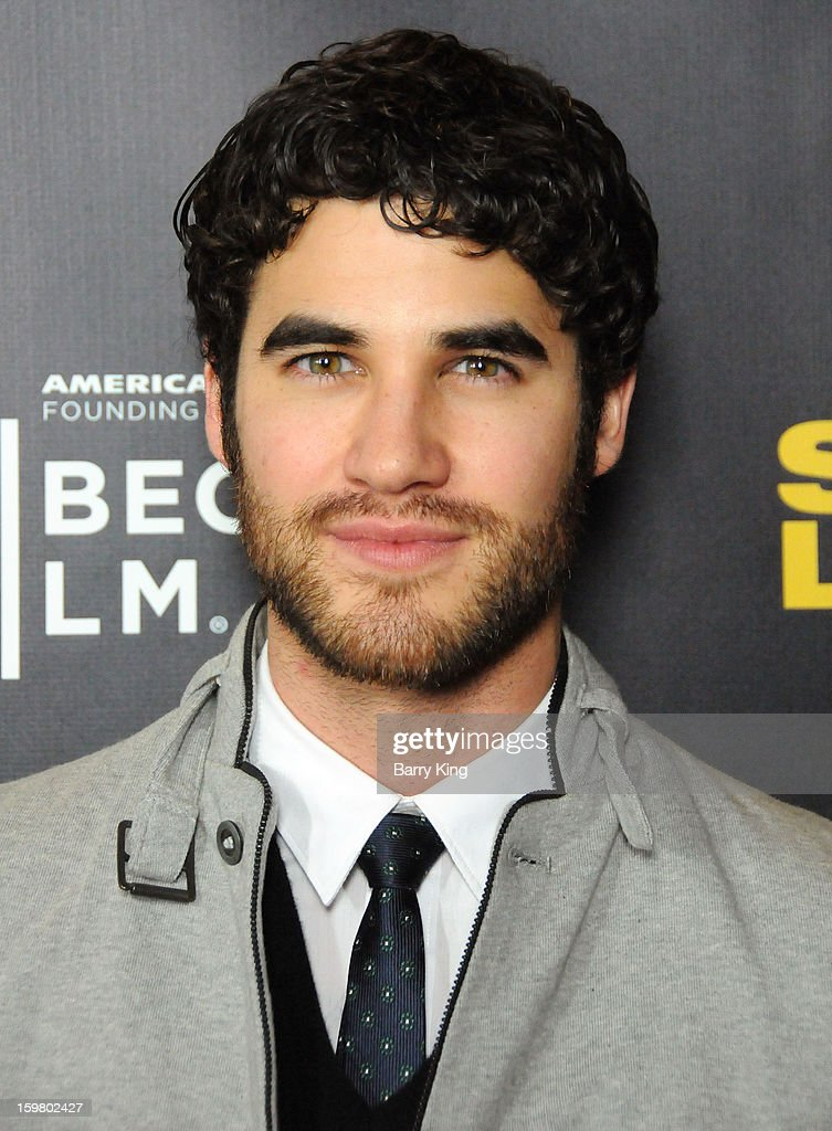 Actor <a gi-track='captionPersonalityLinkClicked' href=/galleries/search?phrase=Darren+Criss&family=editorial&specificpeople=7341435 ng-click='$event.stopPropagation()'>Darren Criss</a> attends the 'Struck By Lightning' premiere at Mann Chinese 6 on January 6, 2013 in Los Angeles, California.