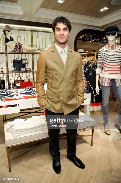 Actor Darren Criss attends Tommy Hilfiger New West Coast Flagship Opening on Robertson Boulevard on February 13 2013 in West Hollywood California