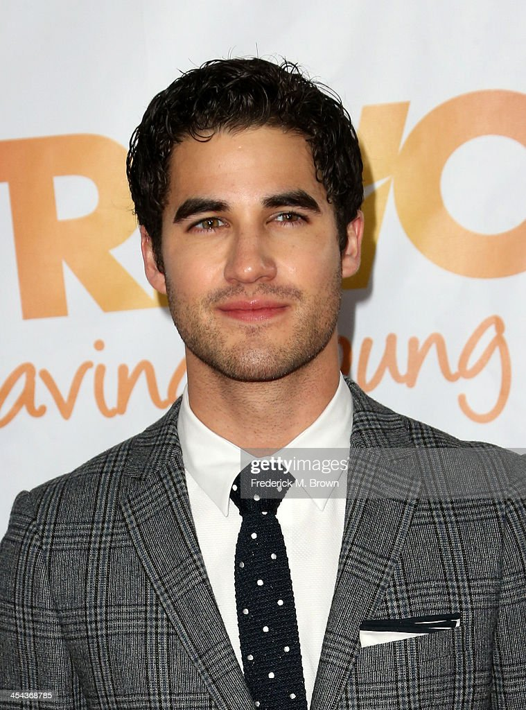 Actor <a gi-track='captionPersonalityLinkClicked' href=/galleries/search?phrase=Darren+Criss&family=editorial&specificpeople=7341435 ng-click='$event.stopPropagation()'>Darren Criss</a> attends 'TrevorLIVE LA' honoring Jane Lynch and Toyota for the Trevor Project at Hollywood Palladium on December 8, 2013 in Hollywood, California.