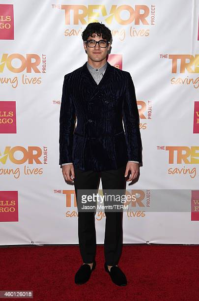 Actor Darren Criss attends 'TrevorLIVE LA' Honoring Robert Greenblatt Yahoo and Skylar Kergil for The Trevor Project at Hollywood Palladium on...