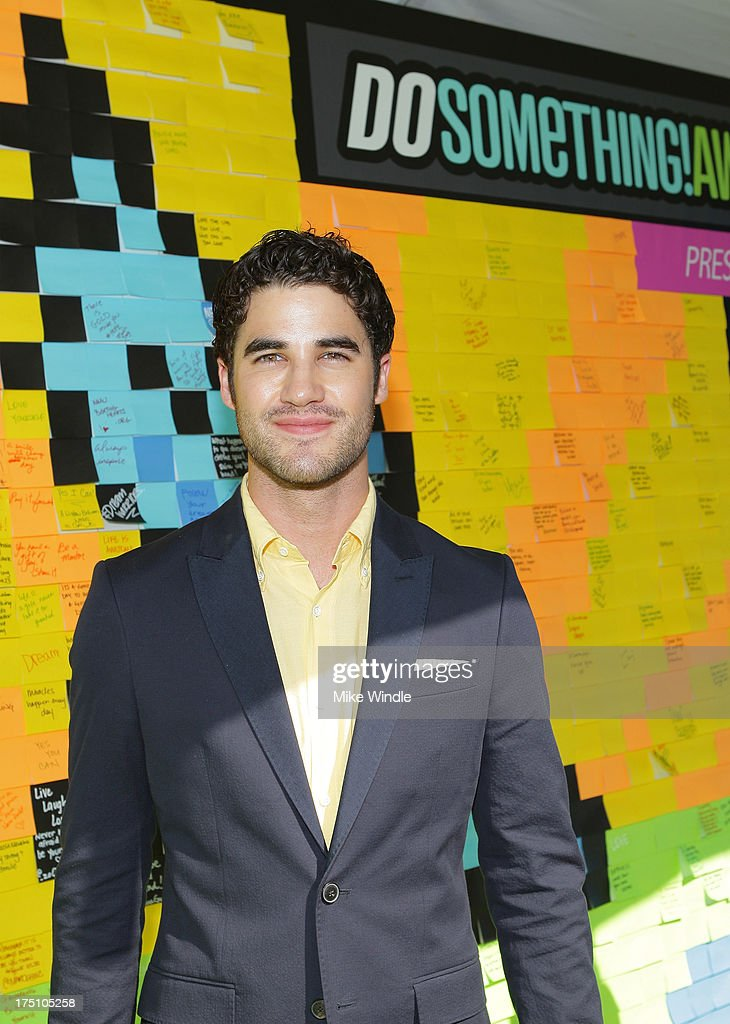 Actor <a gi-track='captionPersonalityLinkClicked' href=/galleries/search?phrase=Darren+Criss&family=editorial&specificpeople=7341435 ng-click='$event.stopPropagation()'>Darren Criss</a> launches Post-it Brand Dreams for Good Contest at the DoSomething.org and VH1's 2013 Do Something Awards at Avalon on July 31, 2013 in Hollywood, California.