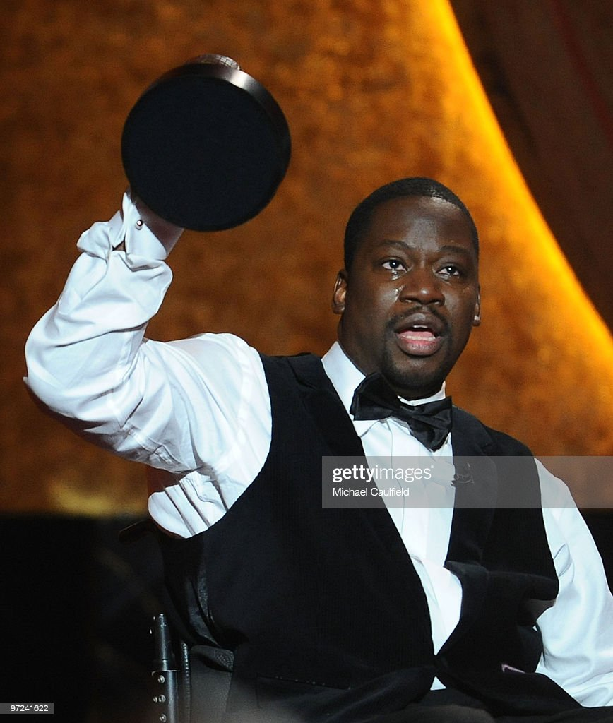 Actor Daryl 'Chill' Mitchell accepts the award for Best Actor in a Comedy series onstage during the 42st NAACP Image awards held at The Shrine Auditorium on February 26, 2010 in Los Angeles, California.