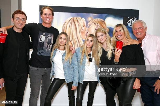 Actor Daryl Sabara Ryan Trainor artists Allie Kaplan and Lexi Kaplan singer Meghan Trainor Amy Kaplan and Gary Trainor attend the 'Make Me Famous'...