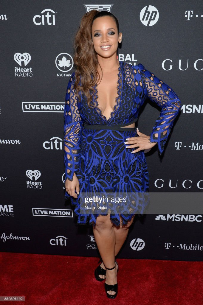 Actor Dascha Polanco poses in the VIP Lounge during the 2017 Global Citizen Festival in Central Park on September 23, 2017 in New York City.