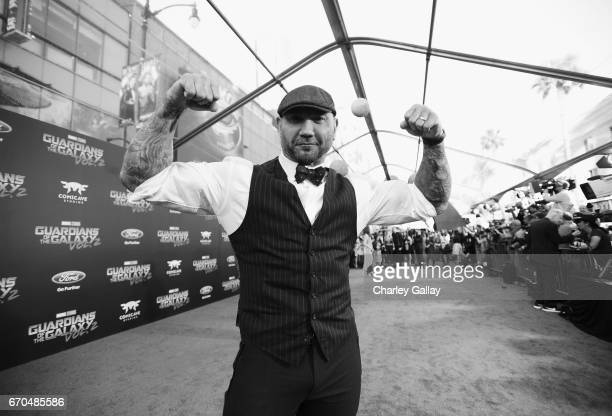 "Actor Dave Bautista at The World Premiere of Marvel Studios' ""Guardians of the Galaxy Vol 2"" at Dolby Theatre in Hollywood CA April 19th 2017"