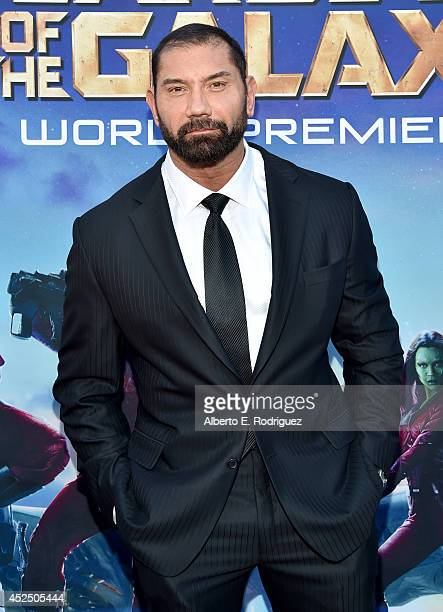 "Actor Dave Bautista attends the after party for The World Premiere of Marvel's epic space adventure ""Guardians of the Galaxy"" directed by James Gunn..."