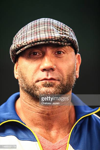 Actor Dave Bautista attends the Movies On Demand lounge at Comic Con at Hard Rock Hotel San Diego on July 13 2012 in San Diego California