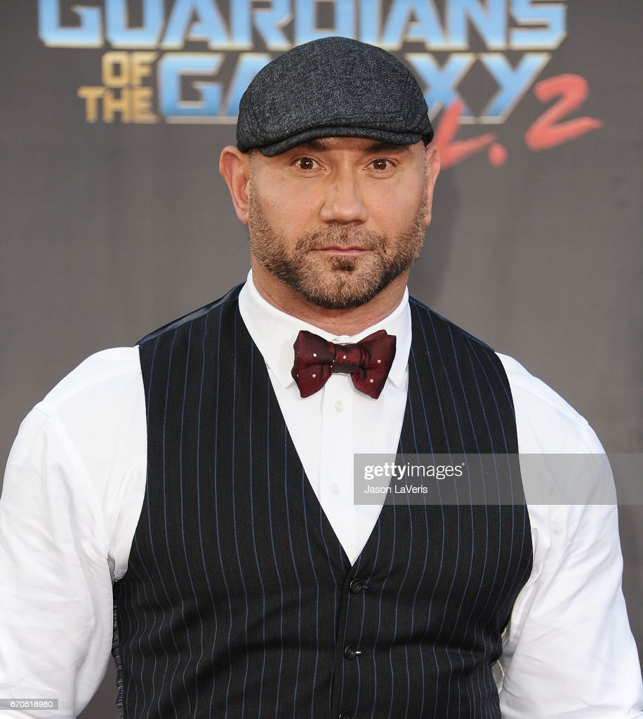 Actor Dave Bautista attends the premiere of 'Guardians of the Galaxy Vol. 2' at Dolby Theatre on April 19, 2017 in Hollywood, California.