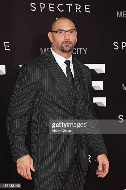 Actor Dave Bautista attends the 'Spectre' Mexico City premiere at Auditorio Nacional on November 2 2015 in Mexico City Mexico