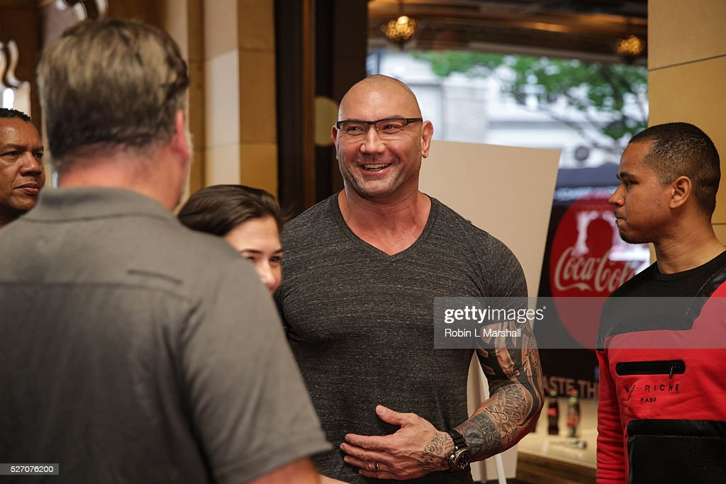 Actor <a gi-track='captionPersonalityLinkClicked' href=/galleries/search?phrase=Dave+Bautista&family=editorial&specificpeople=4344445 ng-click='$event.stopPropagation()'>Dave Bautista</a>, Guardians of the Galaxy attends 'Captain America: Civil War' Screening at the Fox Theatre on May 1, 2016 in Atlanta, Georgia.