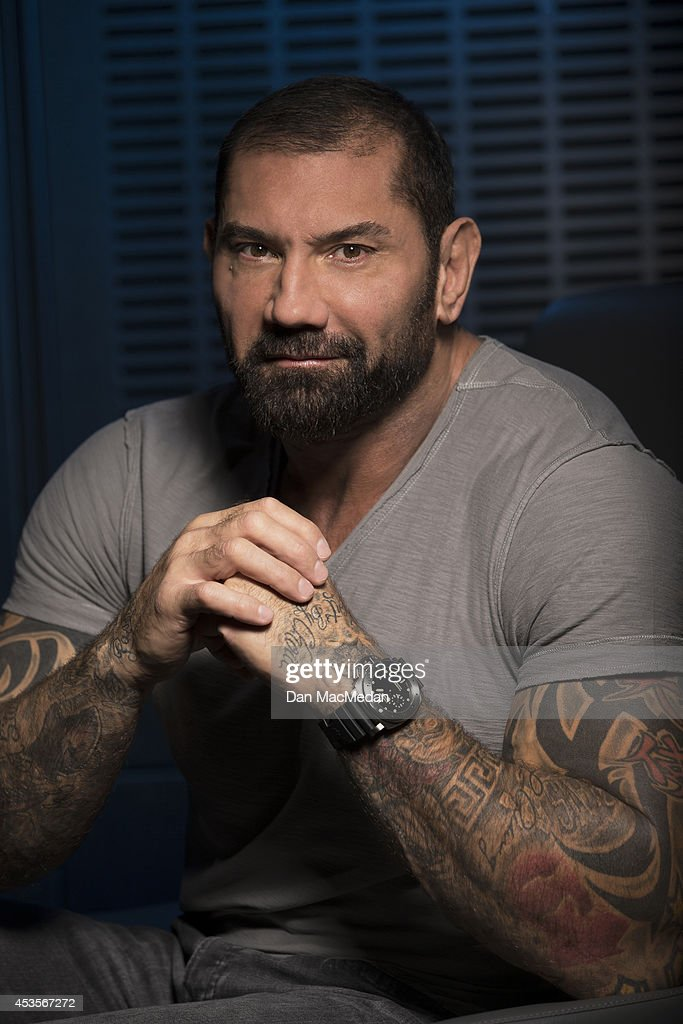 Actor Dave Bautista is photographed for USA Today on July 21, 2014 in Los Angeles, California.