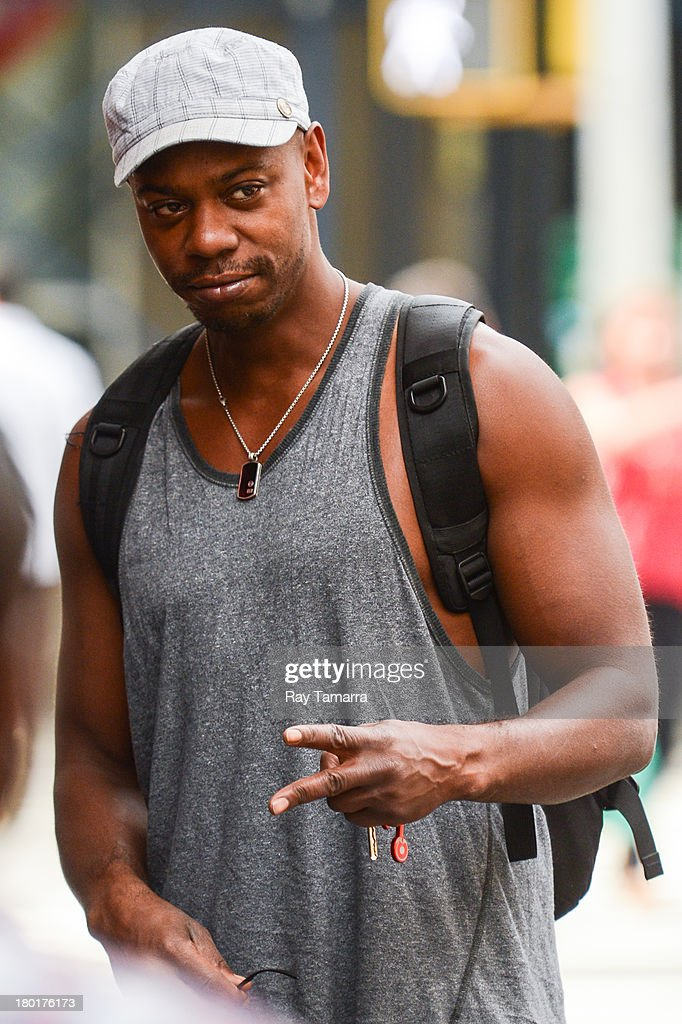 Actor <a gi-track='captionPersonalityLinkClicked' href=/galleries/search?phrase=Dave+Chappelle&family=editorial&specificpeople=214548 ng-click='$event.stopPropagation()'>Dave Chappelle</a> leaves his Soho hotel on September 9, 2013 in New York City.