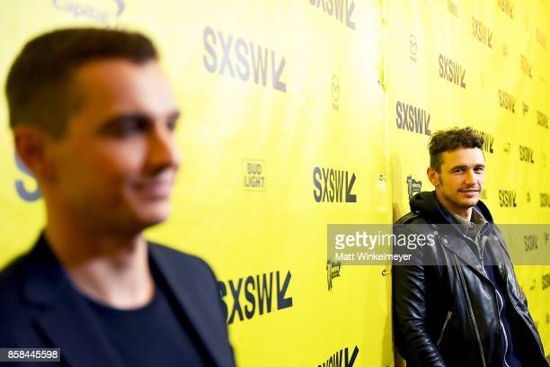 Actor Dave Franco and actor/director James Franco attend the 'The Disaster Artist' premiere 2017 SXSW Conference and Festivals on March 12 2017 in...