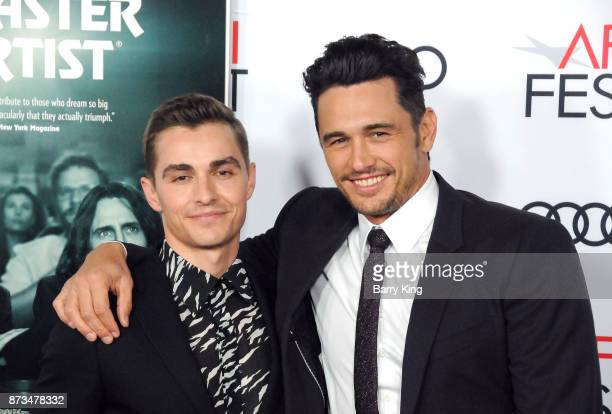 Actor Dave Franco and brother director/actor James Franco attend AFI FEST 2017 Presented By Audi Screening Of 'The Disaster Artist' at TCL Chinese...