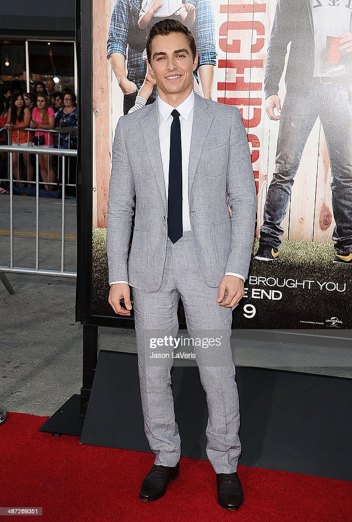 Actor <a gi-track='captionPersonalityLinkClicked' href=/galleries/search?phrase=Dave+Franco&family=editorial&specificpeople=5512906 ng-click='$event.stopPropagation()'>Dave Franco</a> attends the premiere of 'Neighbors' at Regency Village Theatre on April 28, 2014 in Westwood, California.