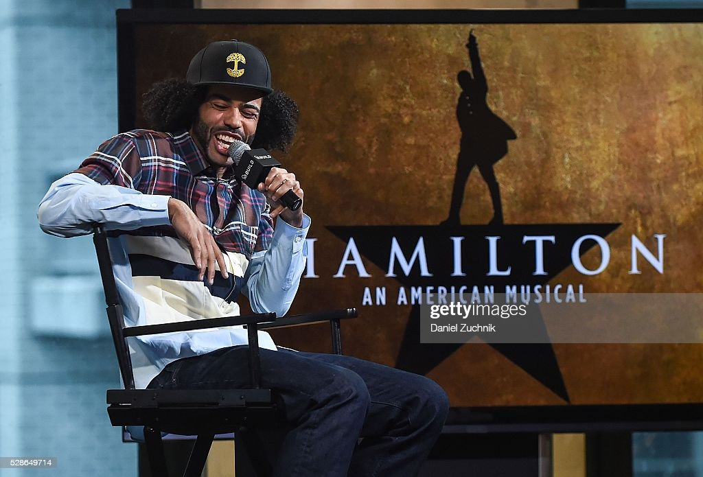 Actor <a gi-track='captionPersonalityLinkClicked' href=/galleries/search?phrase=Daveed+Diggs&family=editorial&specificpeople=13937757 ng-click='$event.stopPropagation()'>Daveed Diggs</a> attends AOL Build to discuss 'Hamilton' on May 06, 2016 in New York, New York.
