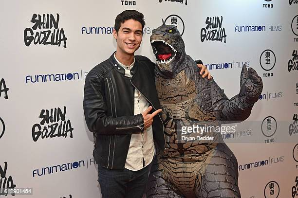 Actor Davi Santos attends the 'Shin Godzilla' premiere presented by Funimation Films at AMC Empire 25n2016 New York Comic Con on October 5 2016 in...