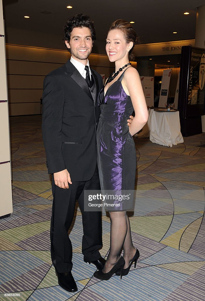 Actor David Alpay and Jenny Lenardson attend the 2008 Gemini Awards Gala at the Metro Toronto Convention Centre on November 28, 2008 in Toronto, Canada.