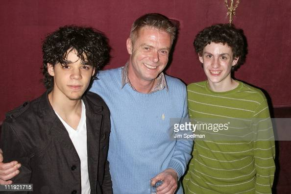 Actor David Alvarez Director Stephen Daldry and Actor Trent Kowalik attend the celebration of the 1000th performance of 'Billy Elliot' on Broadway at...