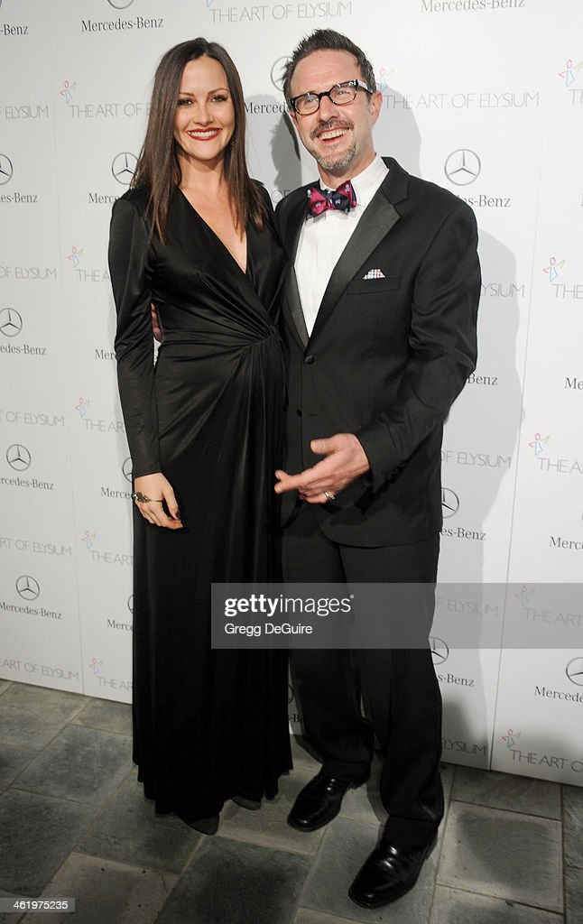 Actor David Arquette and Christina McLarty arrive at The Art of Elysium's 7th Annual HEAVEN Gala at the Guerin Pavilion at the Skirball Cultural Center on January 11, 2014 in Los Angeles, California.