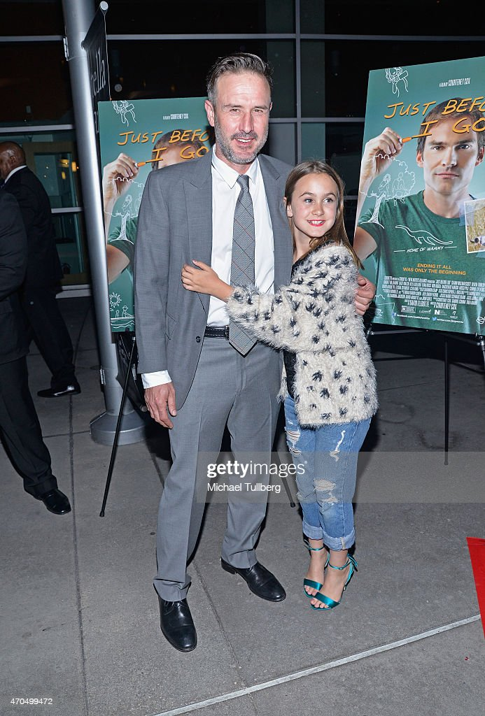 Actor David Arquette and daughter Coco Arquette attend a screening of Anchor Bay Entertainment's film 'Just Before I Go' at ArcLight Hollywood on...