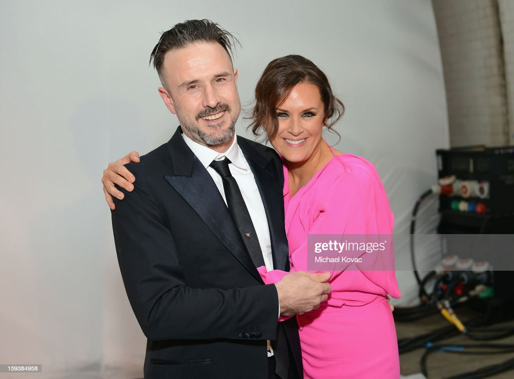 Actor David Arquette (L) and Founder of The Art of Elysium Jennifer Howell attend The Art of Elysium's 6th Annual HEAVEN Gala presented by Audi at 2nd Street Tunnel on January 12, 2013 in Los Angeles, California.