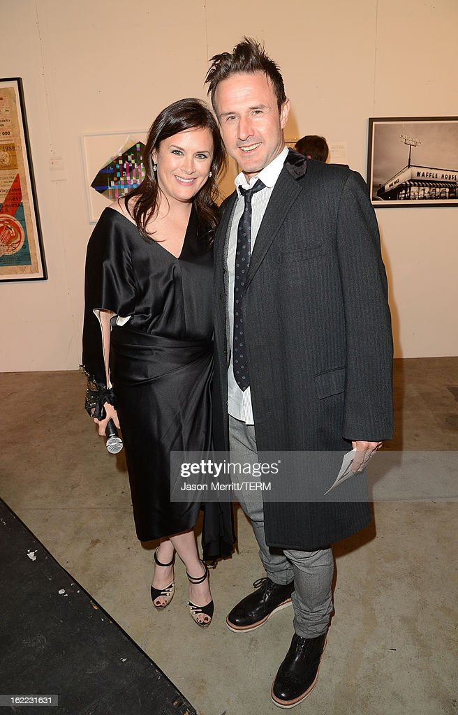 Actor David Arquette and Jennifer Howell attend the Art Of Elysium's 6th Annual Pieces Of Heaven powered by Ciroc Ultra Premium Vodka at the Ace Museum on February 20, 2013 in Los Angeles, California.
