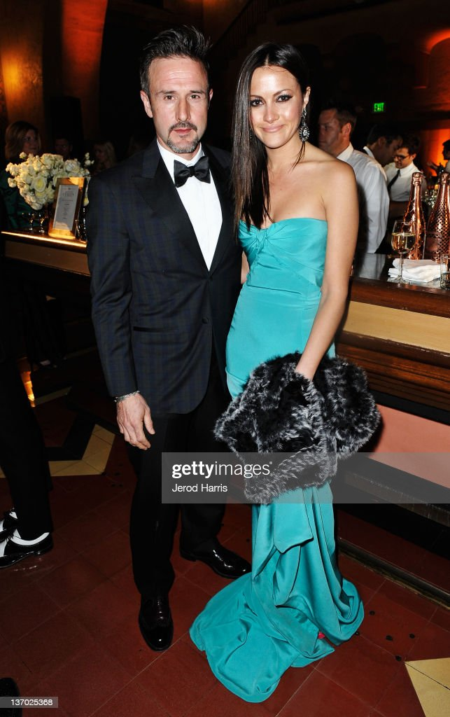 Actor David Arquette and tv personality Christina McLarty attend Audi presents The Art of Elysium's 5th annual HEAVEN at Union Station on January 14...