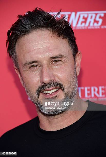 Actor David Arquette arrives at the Crackle Original Series' 'Cleaners' and 'Sequestered' summer premiere celebration at 1 OAK on August 14 2014 in...